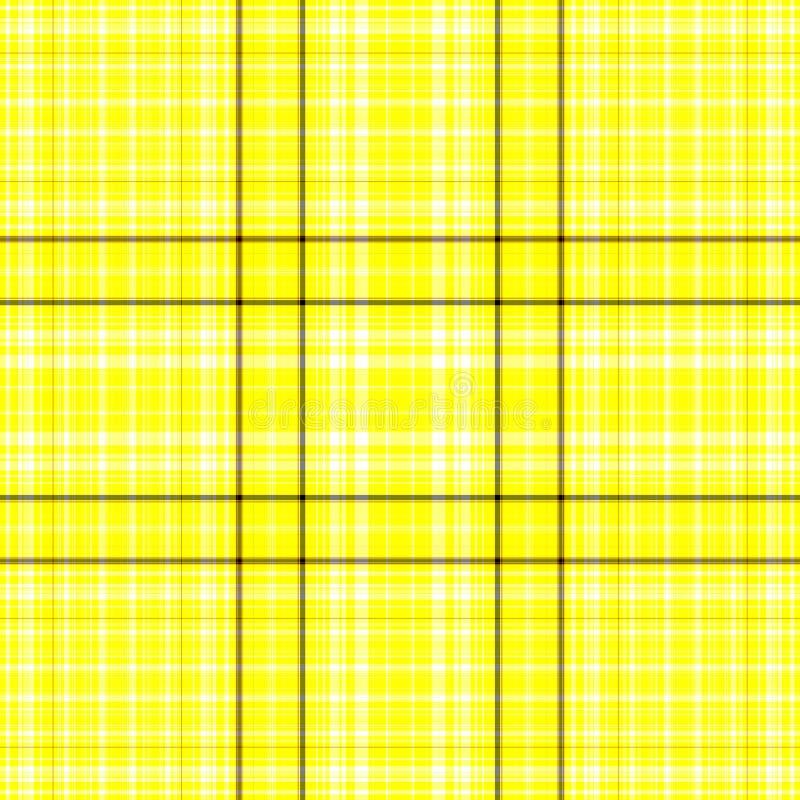 Yellow and black plaid stock photo