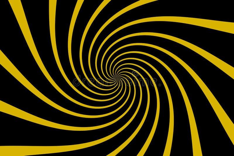 Yellow black spiral illustration design. stock images