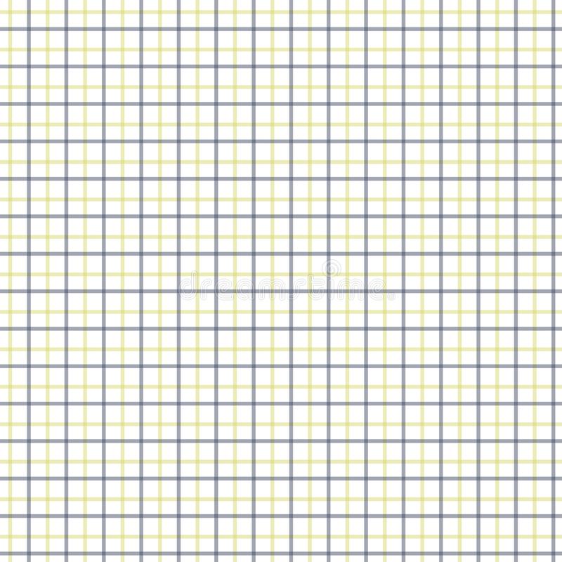 Yellow and Black Tattersall Check Pattern. Men`s Shirt Fashion Textile Fabric. Repeating Tile Plaid Pattern royalty free illustration