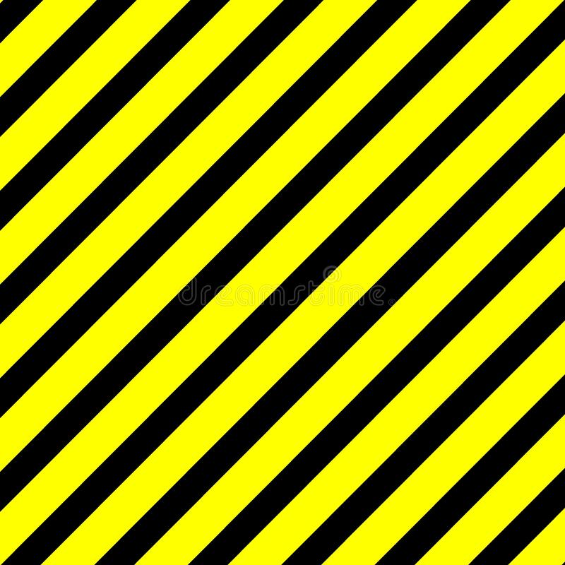 Yellow Black Warning Sign Abstract Background Full Resolution stock illustration