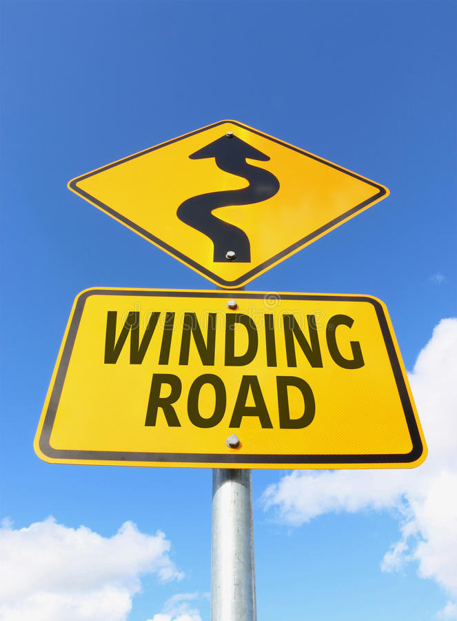 Yellow and black winding road sign and arrow stock image image of download yellow and black winding road sign and arrow stock image image of cloud publicscrutiny Images