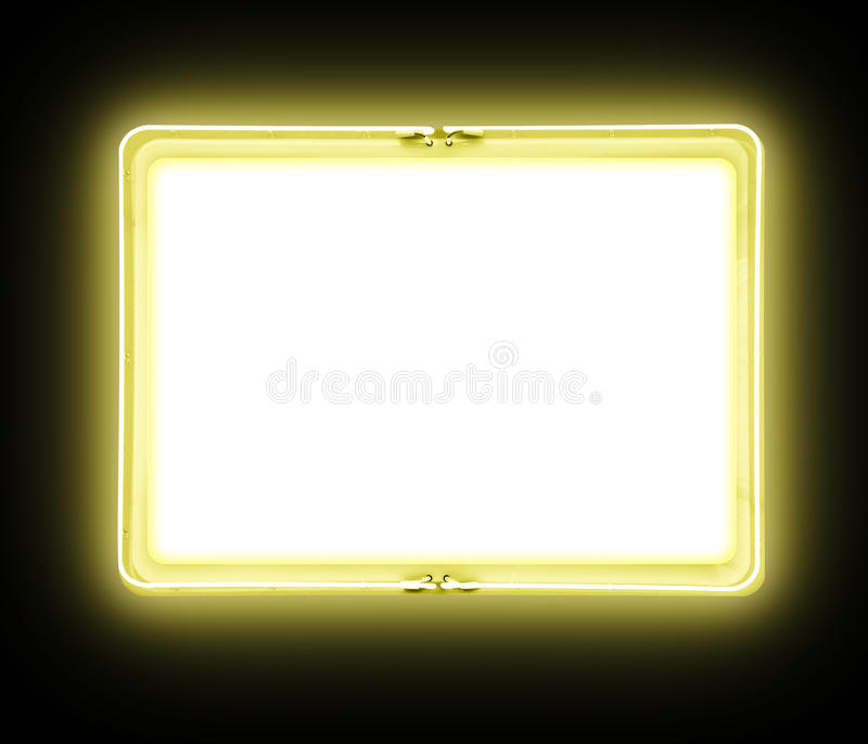 Download Yellow Blank Neon Sign Glowing Stock Images - Image: 14813804