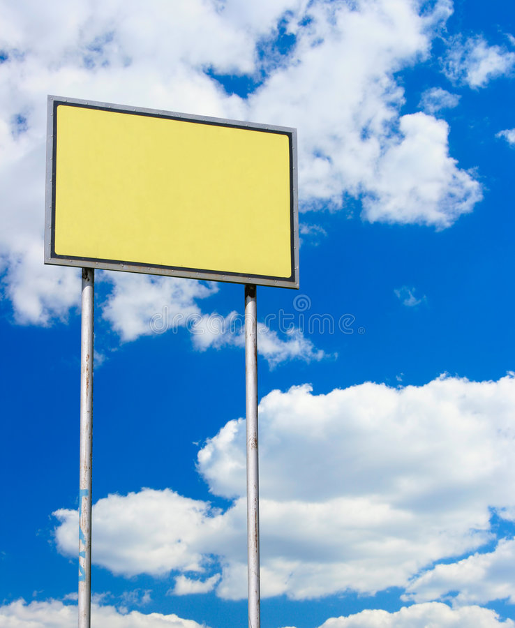 Download Yellow blank sign stock image. Image of blue, eclology - 5105543