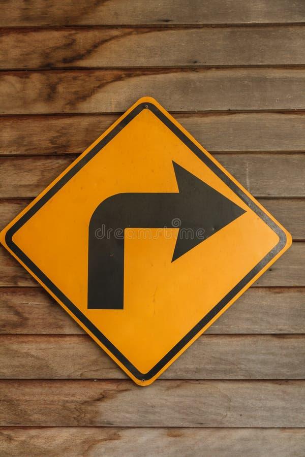 Free Yellow Blind Corner Turning Warning Sign Royalty Free Stock Photos - 71696318