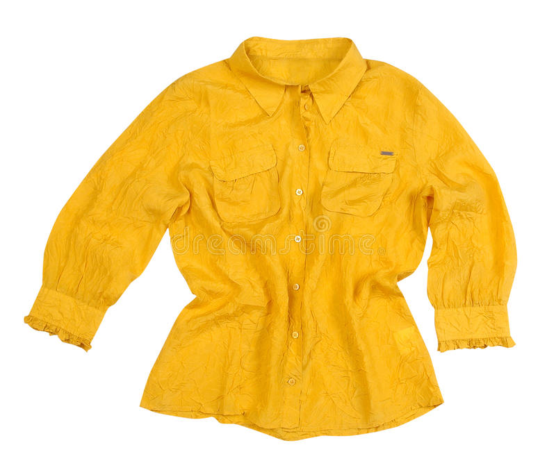 Yellow blouse royalty free stock images