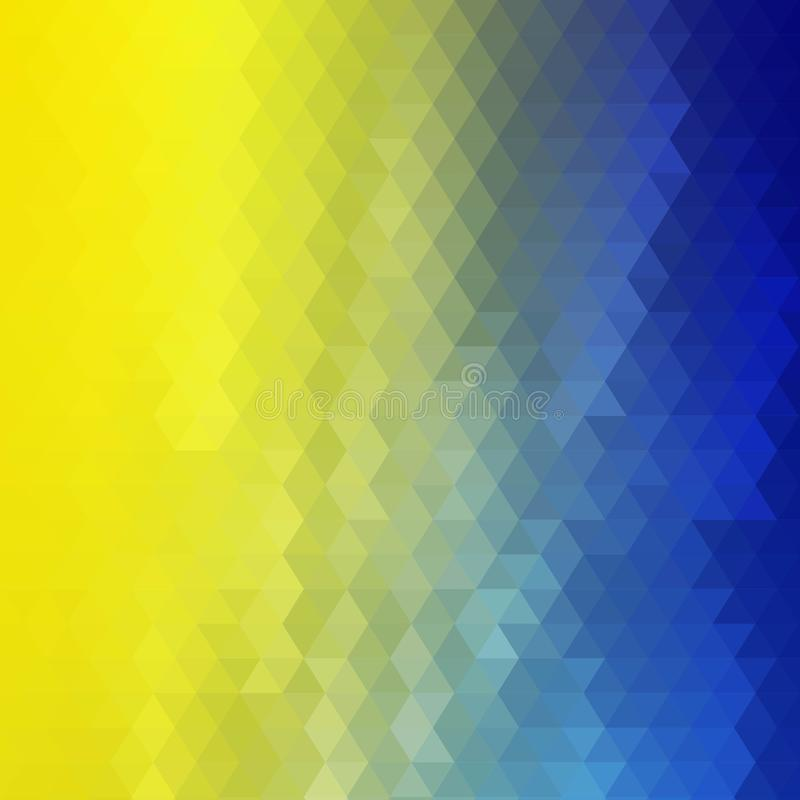 Yellow - blue background of the triangles. mosaic background. Ukrainian flag. eps 10. Yellow - blue background of the triangles. mosaic background. Ukrainian royalty free illustration