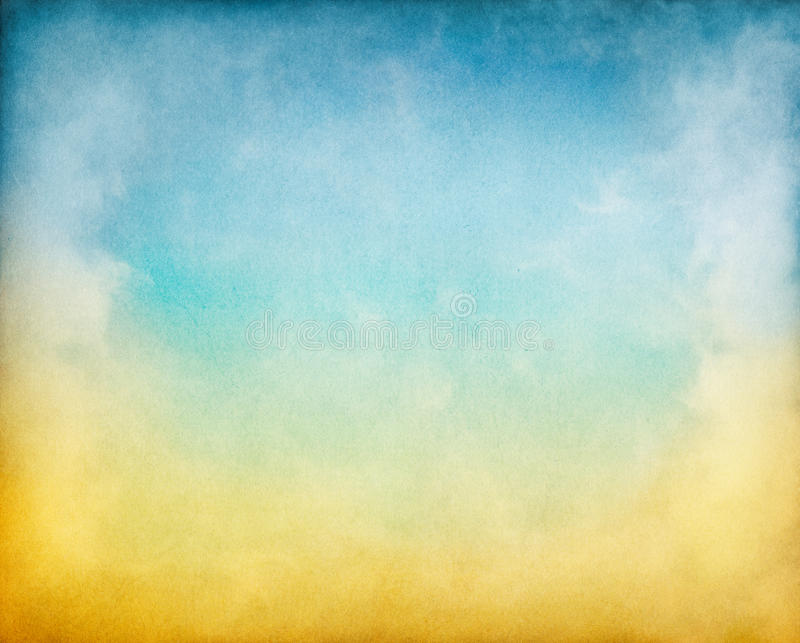 Yellow Blue Clouds stock photography
