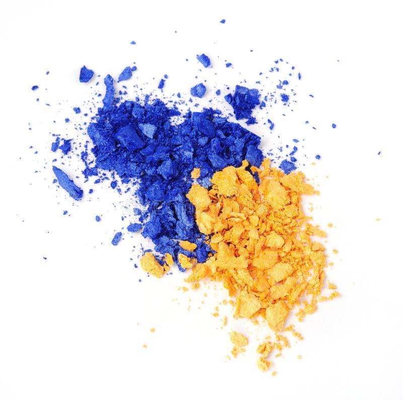 Yellow and blue eyeshadow stock photos
