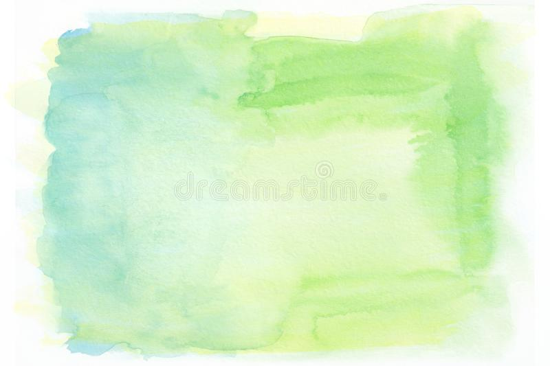 Yellow blue and green watercolor gradient background. The middle is lighter than other sides of the image vector illustration