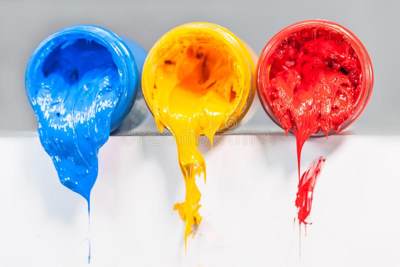 yellow blue and red colors are primary color. royalty free stock image