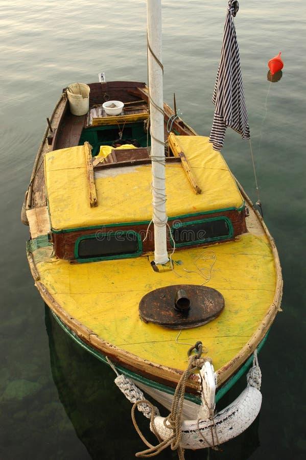 Yellow boat royalty free stock photos