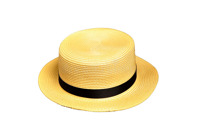 Download Yellow boater stock image. Image of head, wear, fashion - 19715621
