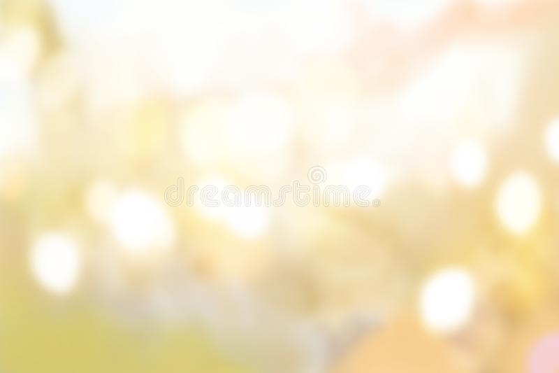 Yellow bokeh background stock photography
