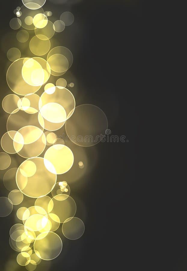Yellow Bokeh Burst Stock Photo