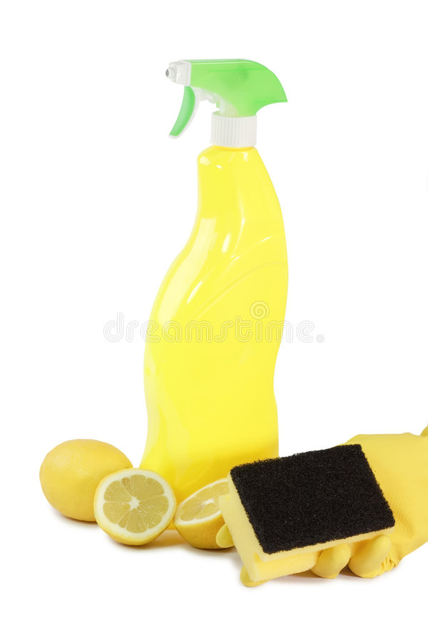 Download Yellow Bottle stock photo. Image of fruit, gloves, household - 4495784