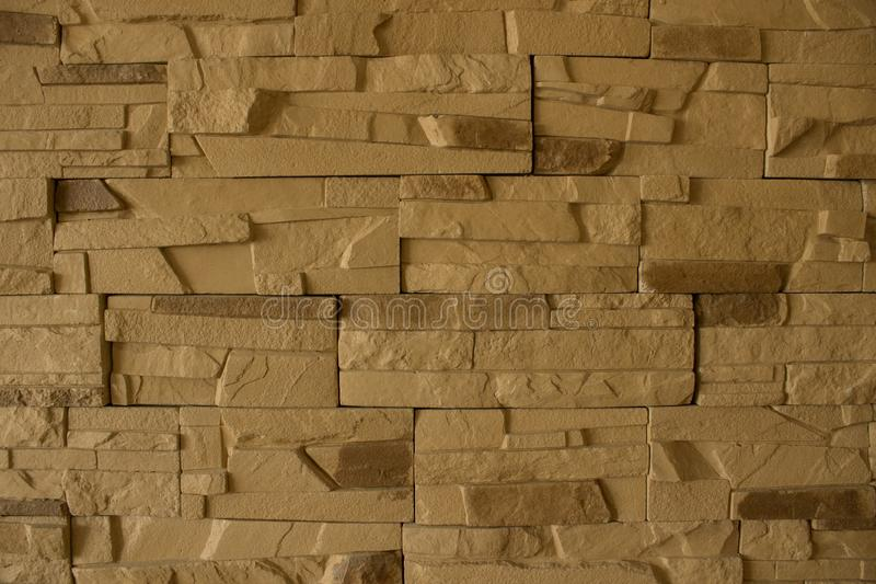 Yellow brick wall background beauti royalty free stock images