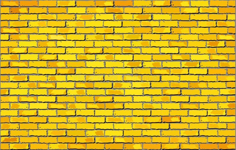 Yellow brick wall vector illustration