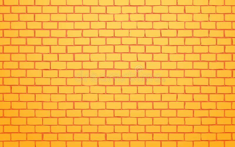 Yellow brick wall vector illustration background vector illustration