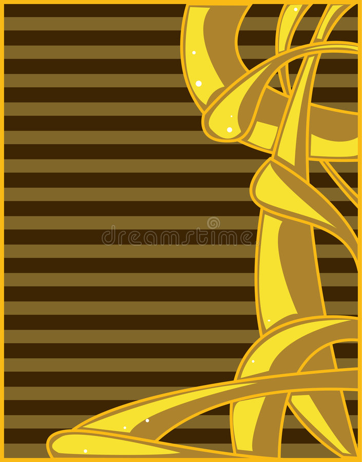 Yellow brown abstract background royalty free illustration