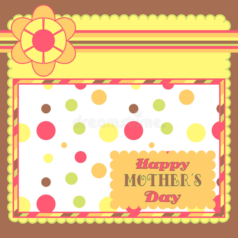 Yellow and brown card vector illustration