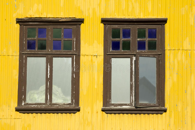 Download Yellow Building And Windows Stock Photo - Image of windows, weathered: 35006126