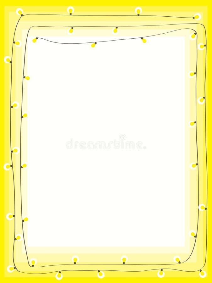 Yellow bulb light page. Illustration yellow bulb light page template vector illustration