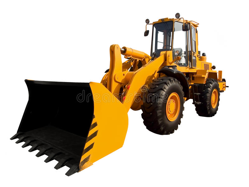 Yellow buldozer royalty free stock images