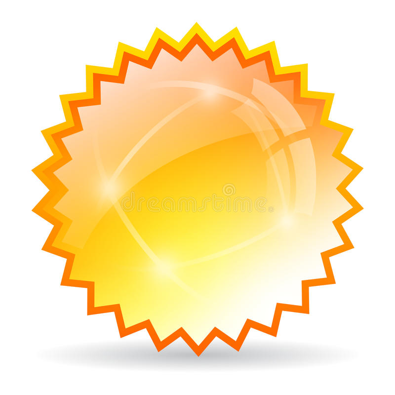 Yellow bursting star. Icon on white background vector illustration