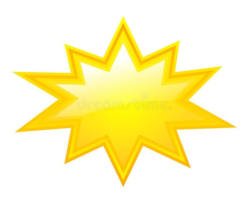 Yellow bursting star. Vector illustration stock illustration