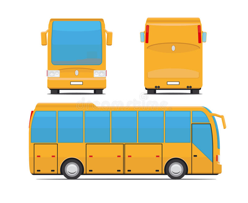 Yellow bus vector illustration royalty free illustration