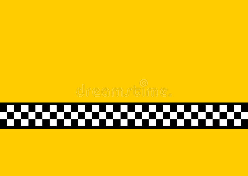 Yellow Cab. Inspired by the famous New York Yellow Cabs, with plenty of copy space stock illustration