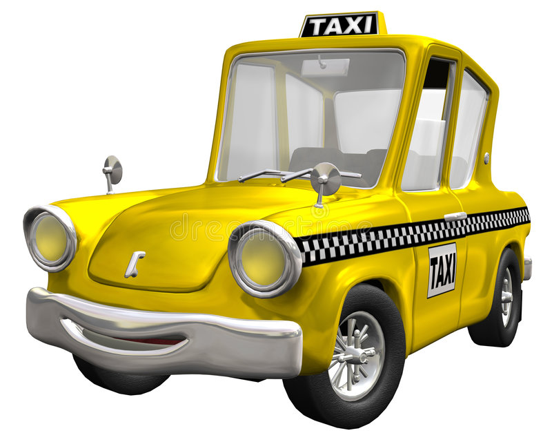 Yellow Cab. Emotion Yellow Cab with isolation on a white background royalty free illustration