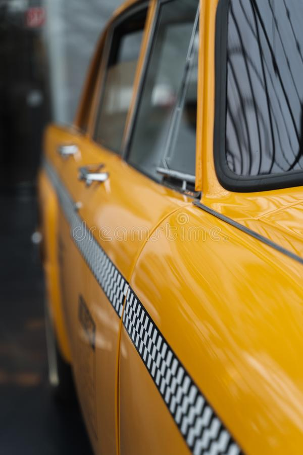 Yellow cab detail royalty free stock image