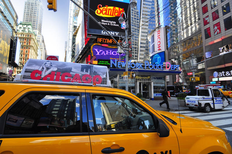 Download Yellow Cab Passing Through Times Square Editorial Image - Image: 16895740