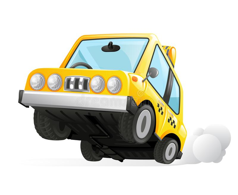 Yellow Cab Taxi Car Icon Transportation City Urban Automobile Icon Isolated Realistic 3d Design Vector Illustration. Yellow Cab Taxi Car Icon Transportation City royalty free illustration
