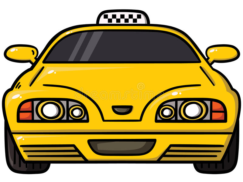 Yellow cab. Vector illustration of taxi cab vector illustration