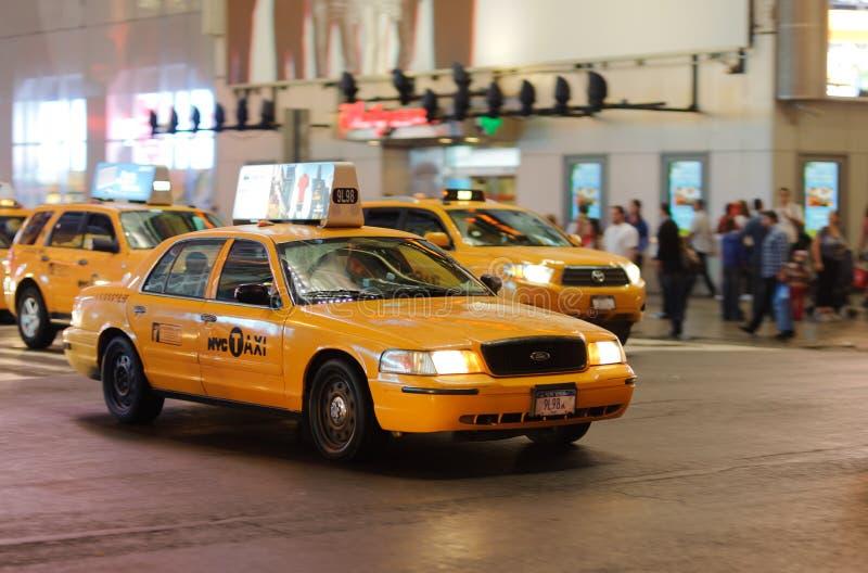 Yellow cabs royalty free stock photos
