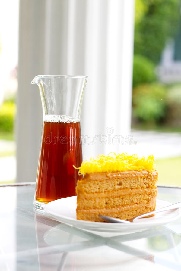 Download Yellow cake defocus stock photo. Image of bakery, gift - 27606284
