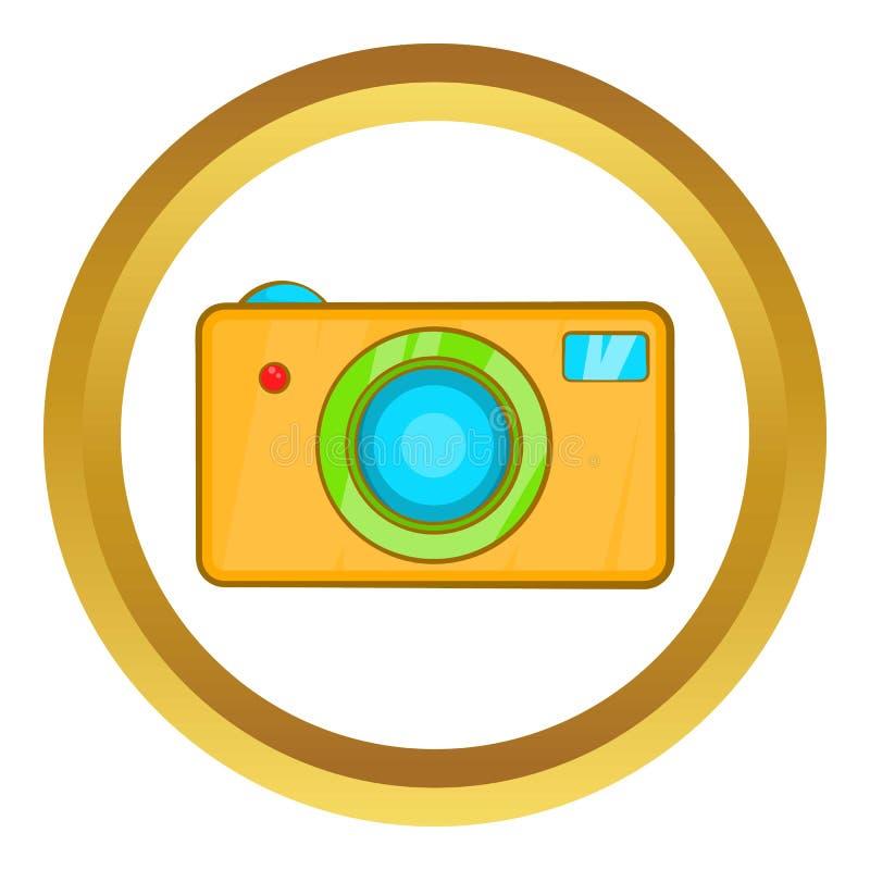 Yellow camera vector icon stock illustration