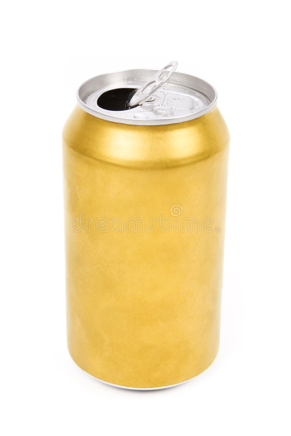 Yellow can stock photography