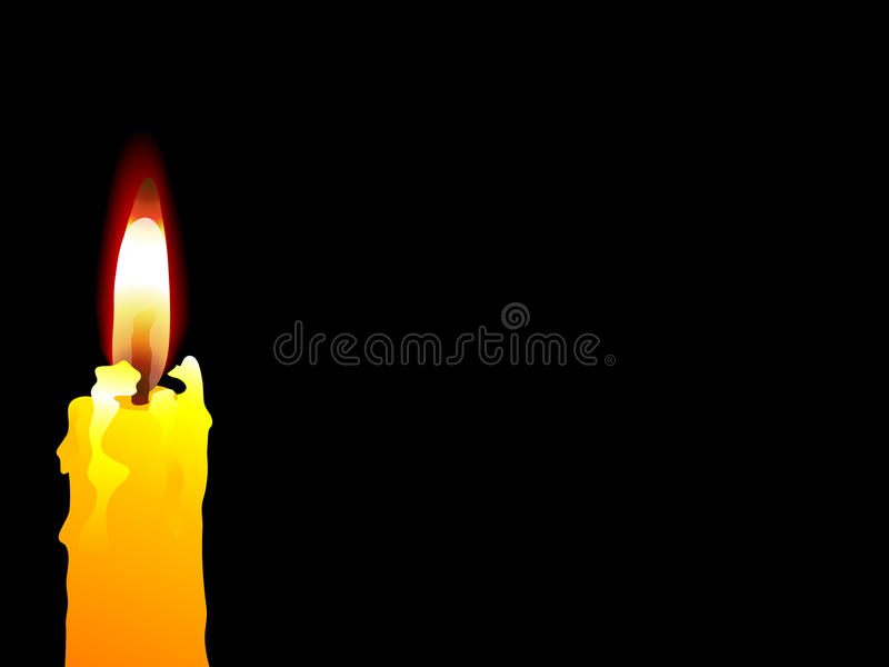 Download Yellow candle stock vector. Image of lightening, burning - 16524726