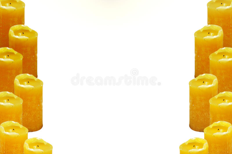 Download Yellow candles on degrade stock image. Image of alight - 11855385