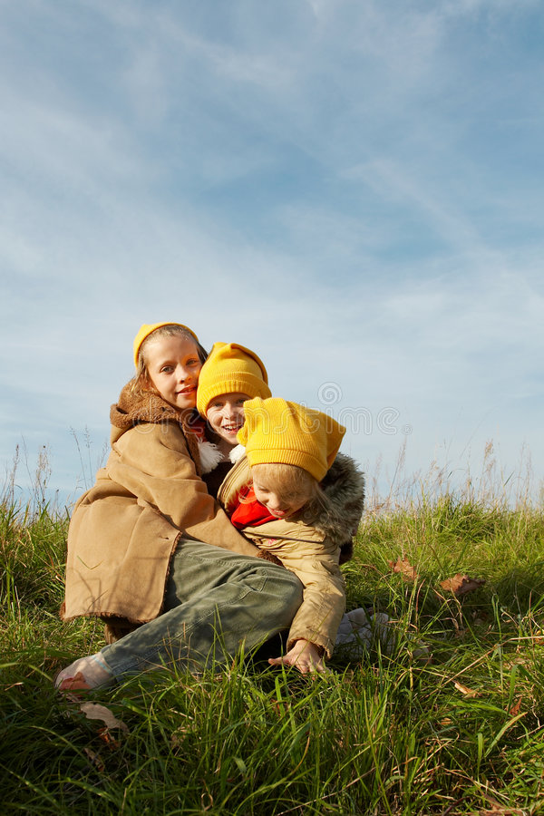 Download Yellow caps gnomes stock photo. Image of fall, friends - 3393652