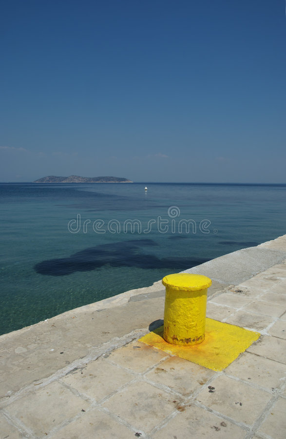 Download Yellow capstan stock image. Image of thassos, summer, safety - 7351121