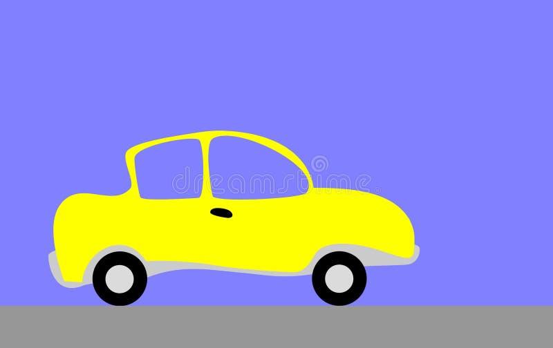 Yellow car royalty free illustration