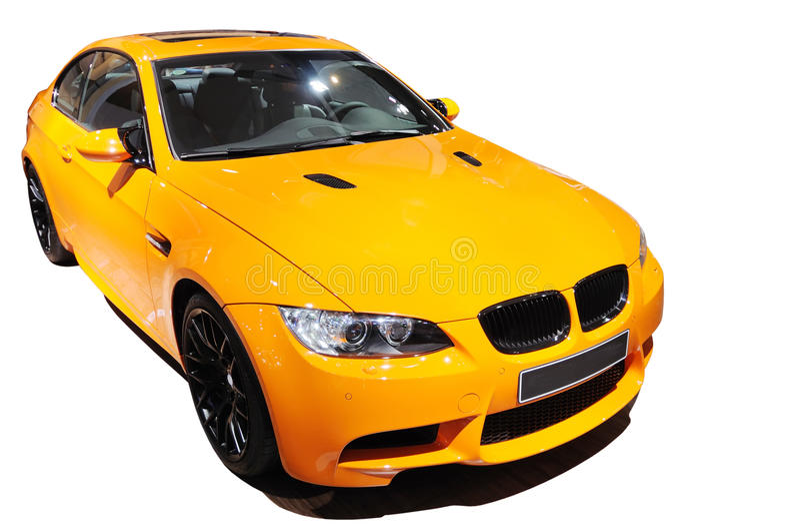 Yellow car Bmw m3 tiger edition