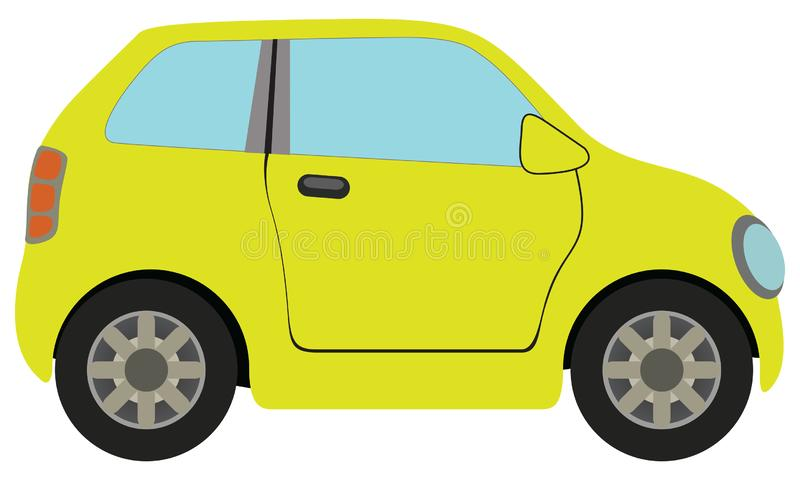 Yellow Car. The Illustration yellow car on a white background stock illustration