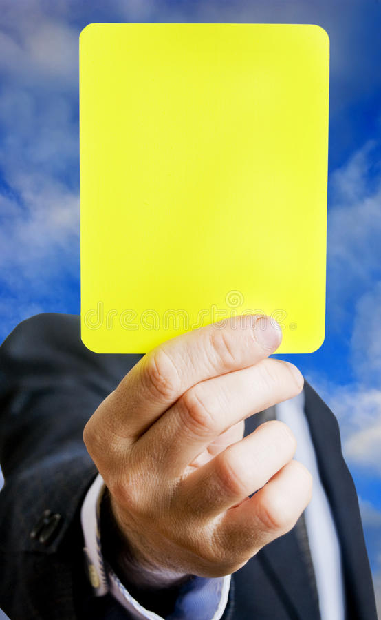 Download Yellow card stock photo. Image of businessman, soccer - 14107536