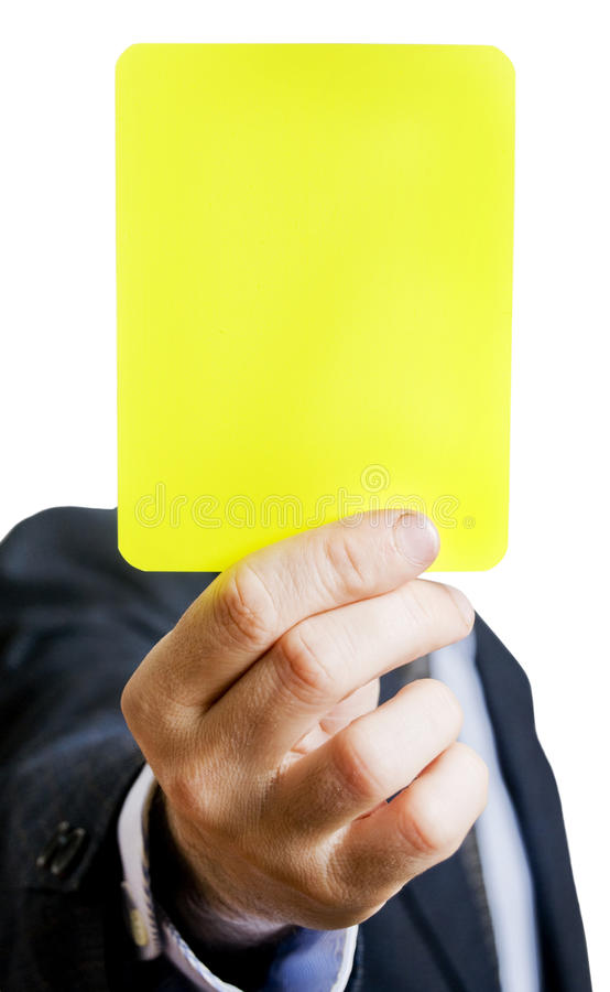 Download Yellow card stock photo. Image of goal, penalty, businessman - 14107546