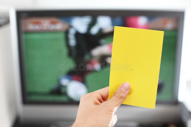 Download Yellow Card Football Punishment Stock Image - Image of relaxation, holding: 14947757